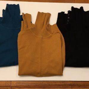 3 Apt 9 Women's Turtleneck Sweaters M